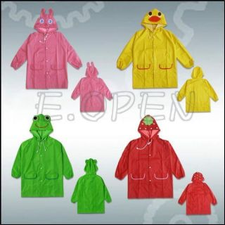 1pcs New Boy Girl Kid Baby Funny Raincoat Children Cartoon Waterproof Rainwear