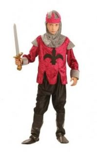 Childrens Boys Medieval Tudor Renaissance King Fancy Dress Up Costume Outfit