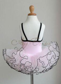 Pink Girls Kids Ballet Dress Tutu Leotard Dance Skate Party Costume Fairy Sz 3 8