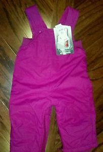 New Baby Toddler Pink Snow Pants Snow Suit Warm Fleece Lined Ski Overalls 12 M