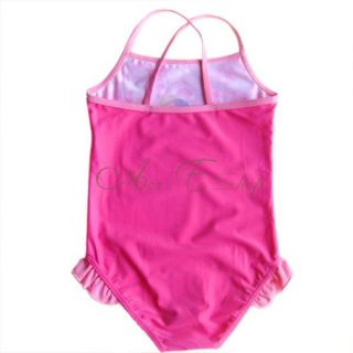 Girls Kid Barbie Princess Swimsuit Swimwear Bathing Suit Swimming Costume Sz 3 7