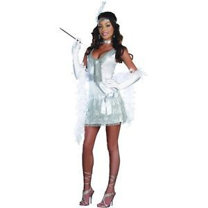Flap Happy Adult Sexy Roaring 20s Flapper Dress Halloween Costume Std Plus Sizes