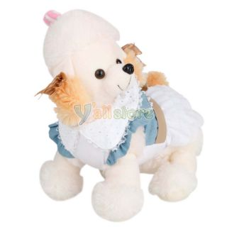 New Puppy Dog Pet Skirt Dress Puppy Costume Clothes Poodle Party Apparel 5 Size