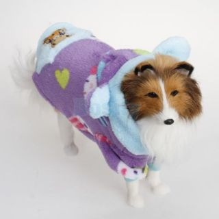 Soft Pet Dog Hoodie Hooded Winter Costume Bear Coat Jacket Clothes Fluffy Warm L