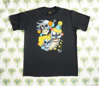 Evil Clowns Vintage 90's T Shirt 3D Emblem Skulls Horror Biker Halloween Costume