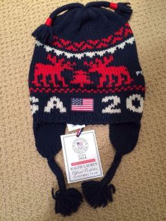 New Official Team USA 2014 Sochi Olympics Ralph Lauren Polo Hat Kids Toddler 2 4