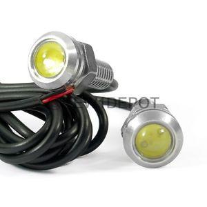 2 Pcs White LED Universal Motorcycle Car Turn Signal Parking Screw Bolt Light