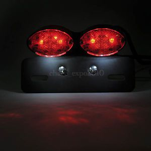 LED Motorcycle Quad ATV Turn Signal Brake License Plate Integrated Tail Light A