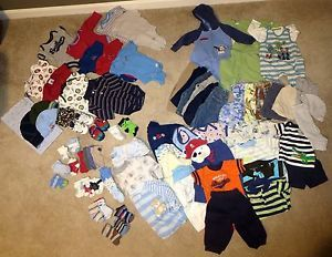 Big Lot of Baby Boy Clothes 0 3mos 3mos 3 6mos Carter's Children's Place Gap