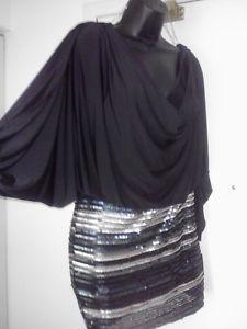 Baby Phat Sequins Sexy Black Dress Sz XL
