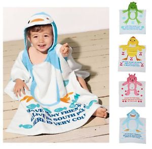 1pc Baby Kid Girl Boy Cartoon Beach Bath Towel Bathrobe Clothes Outfit Washcloth