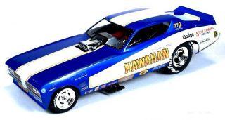 Roland Leongs Hawaiian Dodge Charger Vintage Funny Car Auto World 1 18 NHRA Drag