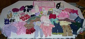 Huge Lot American Girl Itty Bitty Baby Doll Clothing 1 Piece Tops Pants Shoes