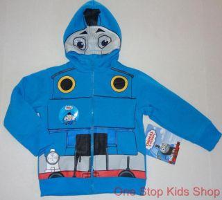 Thomas The Train Toddler Boys 2T 3T 4T 5T Sweatshirt Costume Hoodie Coat Jacket