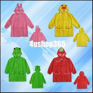 1pcs New Boy Girl Kid Baby Funny Raincoat Children Cartoon Waterproof Rainwear