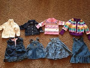 Guess Designer Baby Girl Clothes Romper Navy Blue Belt 12m 9 12 Months