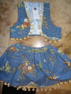 Darling Pageant Western Wear Sz 18 24 Months 2T 3T