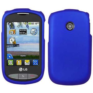 Blue Rubberized Hard Case Cover for Tracfone LG 800G Net10 Phone Accessory