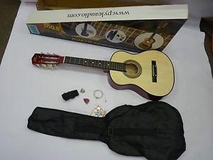 "Pyle Pro PGAKT30 Beginner Jamer Acoustic Guitar Carrying Case Accessories 30"""