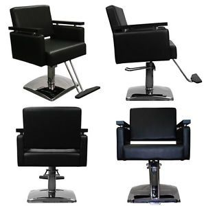 New Black Beauty Salon Equipment Hydraulic Styling Chair Package 4 SC 10BLK