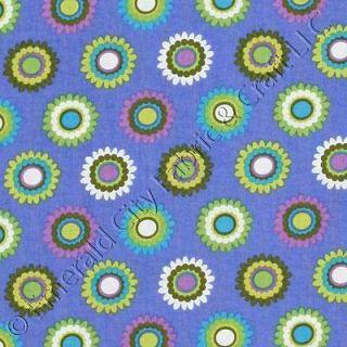 Michael Miller Pretty Bird Bloomies Blue Cotton Fabric