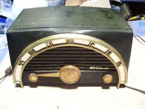 Vintage Antique Tube Radio CBS Columbia Art Deco Bakelite Radio