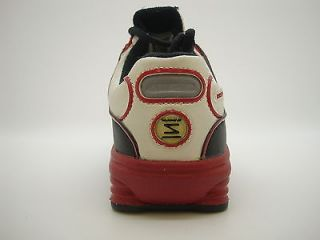 310591 111 Pre School Little Kids Nike Shox NZ SL White Varsity Red Black Shoe