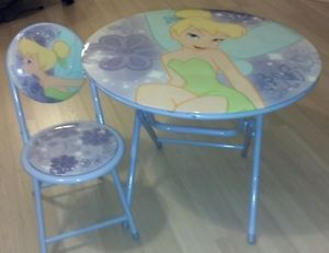 "Disney Fairies Tinkerbell 24"" Folding Table Chair Purple Child'S"