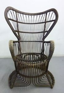 Gio Ponti Style Wicker Chair from Rohe Noordwolde Dutch Design