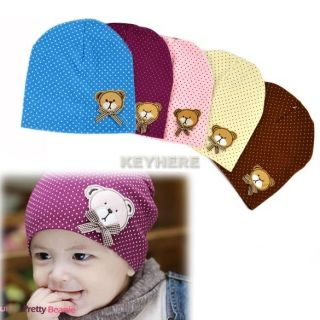 Baby Kids Girl Boy Cute Lovely Bear Hat Beanie Cap Newborn Infant Bear Hat K0E1
