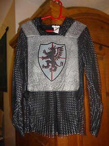 Boys Halloween Playtime Knights Chainmail Armor Costume Sz 8 10