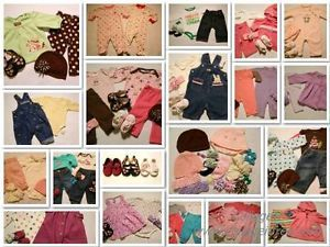 60 Huge Baby Girl Clothes Lot 0 3 6M 0 6 Month Outfits Gap Gymboree Carters