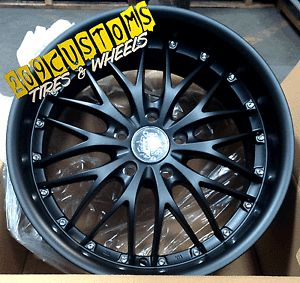 """4 19"""" inch Wheels Rims Tires Curva 3 5x114 3 Black Toyota Lexus Scion Acura"""