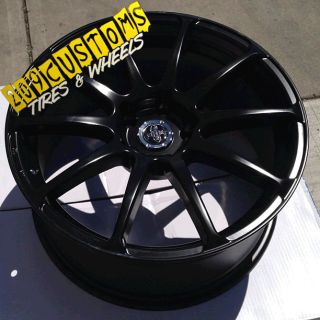 "18"" inch Wheels Rims Tires Versante 501 Black 5x114 3 Sonata Genesis Eclipse G35"