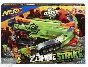 New Nerf Zombie Strike Crossfire Bow Gun Blaster Crossbow 4 Darts Ready 2 SHIP