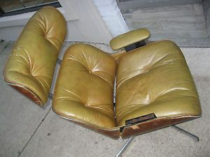 Mid Century Modern Frank Doerner Leather Eames Style Lounge Parts Chair