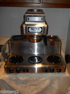 Bunn O Matic RL 35 Commercial 5 Warmer Automatic Coffee Brewer Machine Nice