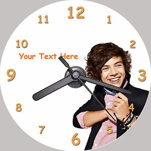 Harry Styles One Direction Personalised CD Clock Free Desktop Stand