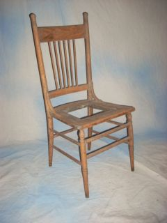 "Vintage 41"" Tall Wooden Cottage Shabby Country Chic Kitchen Side Chair Restore"