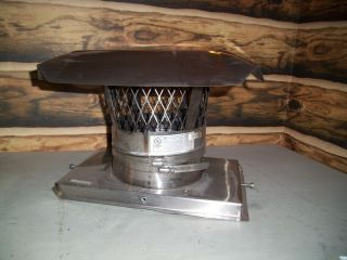Lighty Used 7 inch Stainless Chimney Liner Cap Chimney Plate Combo Wood Stove