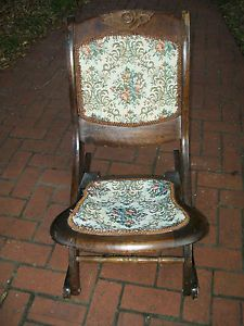 Folding Vintage Adult Rocking Chair