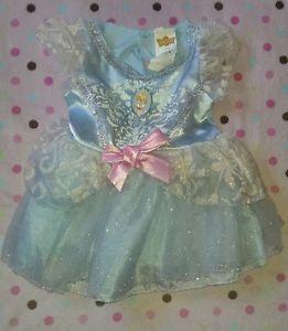 Disney Cinderella Halloween Costume Baby Blue Tutu Dress Toddler Girls 2 T 2T