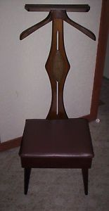 Vintage Nova Mens Butler Valet Dressing Chair Suit Hanger Storage