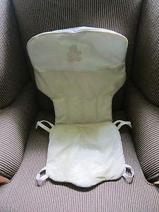 Eddie Bauer High Chair Cover Pad in Tan White