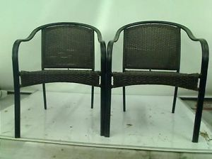 Hampton Bay Wicker Patio Stack Chair 2 Pack