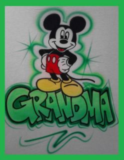 Custom Airbrushed Mickey Mouse Kid Baby Design with Name Tshirt D 681