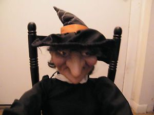 Gemmy Halloween Rocking Chair Laughing Animated Witch Talking Sound Activated