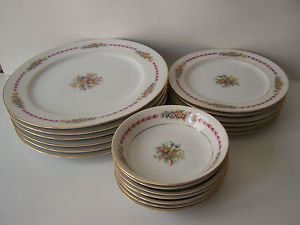 Kingsley Narumi China Dinnerware Occupied Japan Oriole Floral