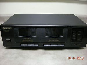 Pioneer Stereo Home Dual Cassette Deck Ct W103 Double Tape Record Recorder
