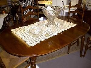 Quality Ethan Allen Cherry Dining Room Table No Chairs c1965 2 Leaf Cover